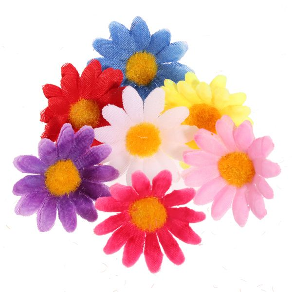 Charming 50 Pcs Sunflower Artificial Silk Flower Wedding Party Home Decor. Silk  FlowersSunflowers