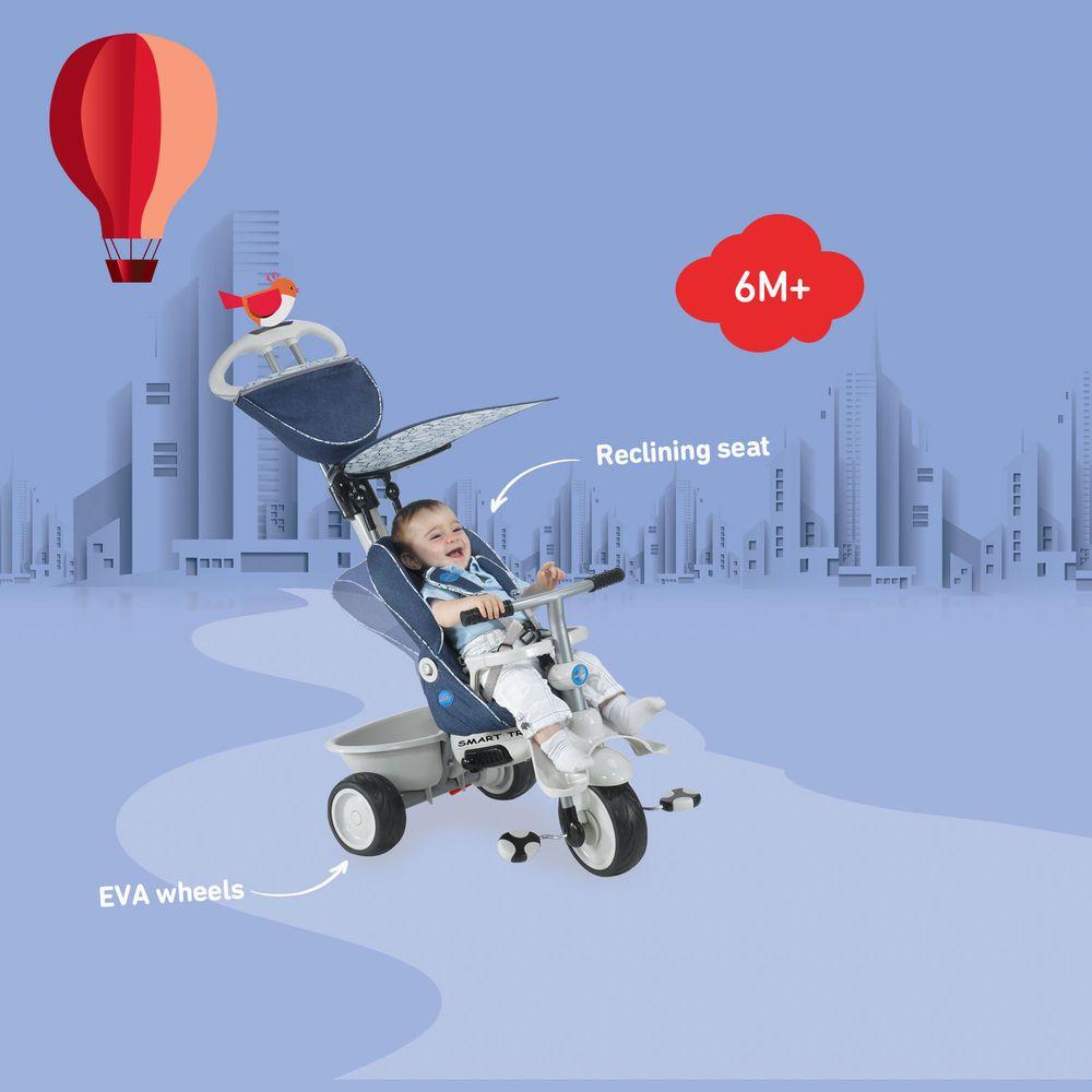 New Smart Trike Recliner Stroller 4 In 1 Smartrike Blue Baby