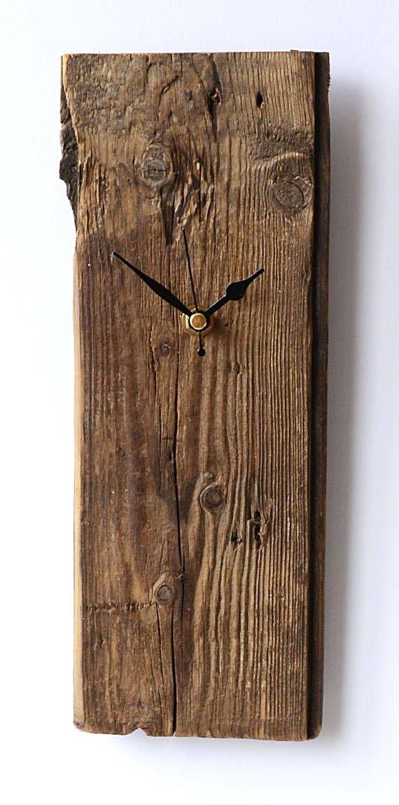Driftwood Clock Rustic Clock Natural Clock Wall Beach