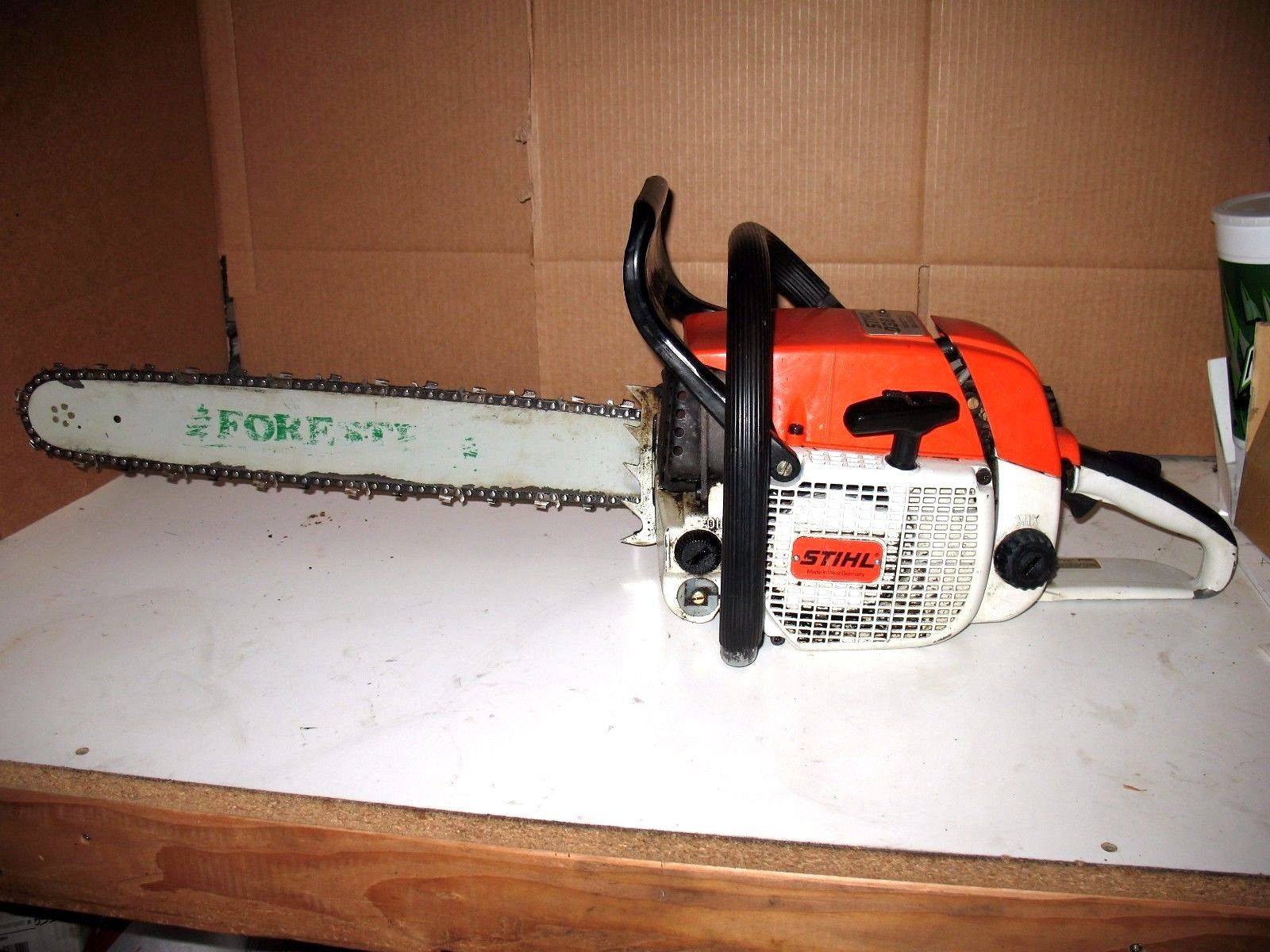 """Stihl 038 AV Chainsaw with 20"""" Inch Bar and Chain Very clean BARN FIND 1 Owner https://t.co/3yFH8DovJm https://t.co/sRs4cfqn3V"""