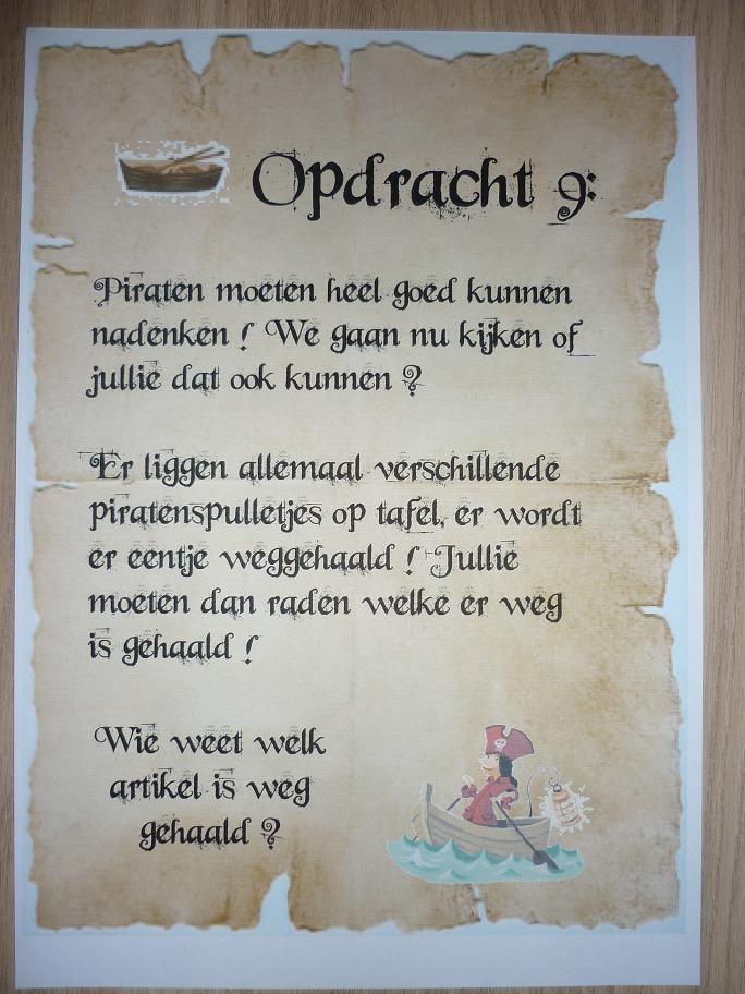 Piratentocht, Opdracht 9. -CE-