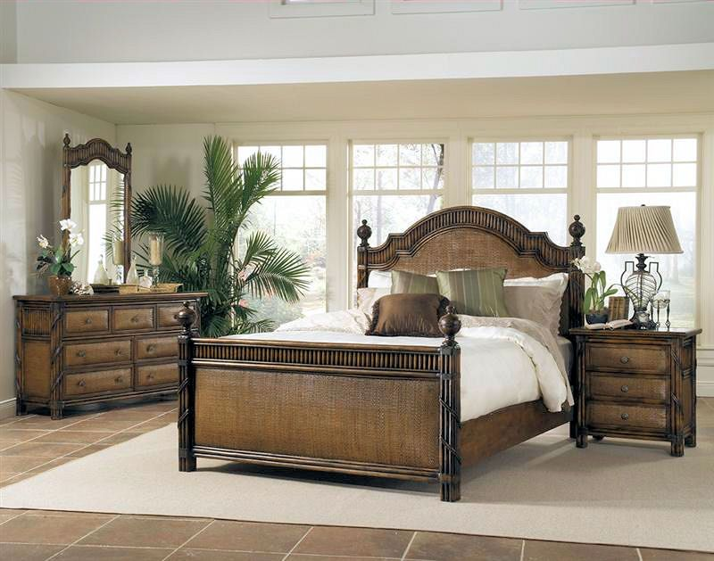 Catalina Bed From South Sea Rattan