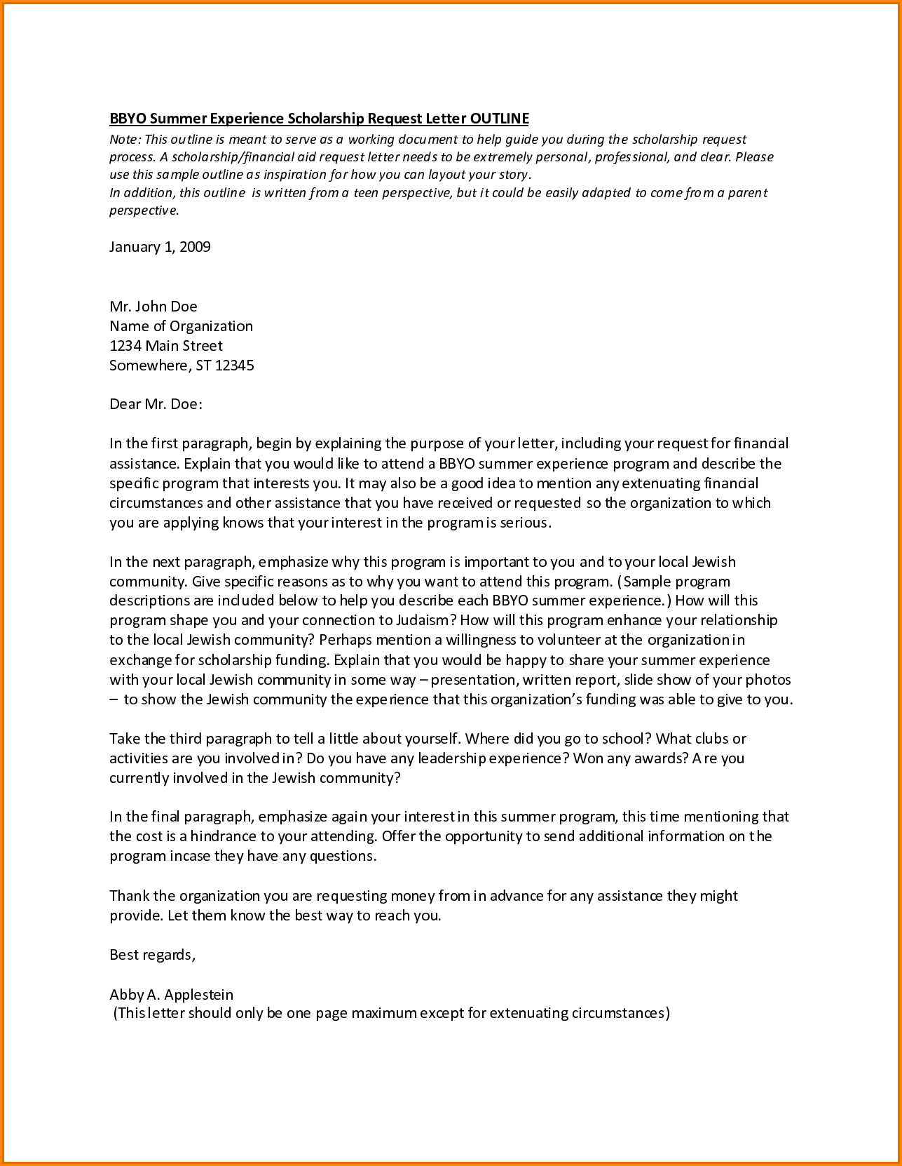 Letter For Scholarship Grantmple Application College Template