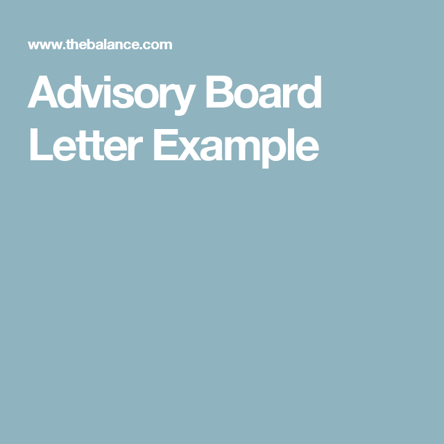 How To Write An Advisory Board Invitation Letter For Your Business