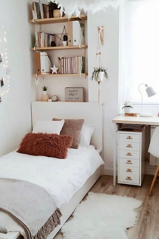 Small Bedroom Design Ideas In 2020 Room Design Bedroom Small Room Bedroom Dorm Room Designs