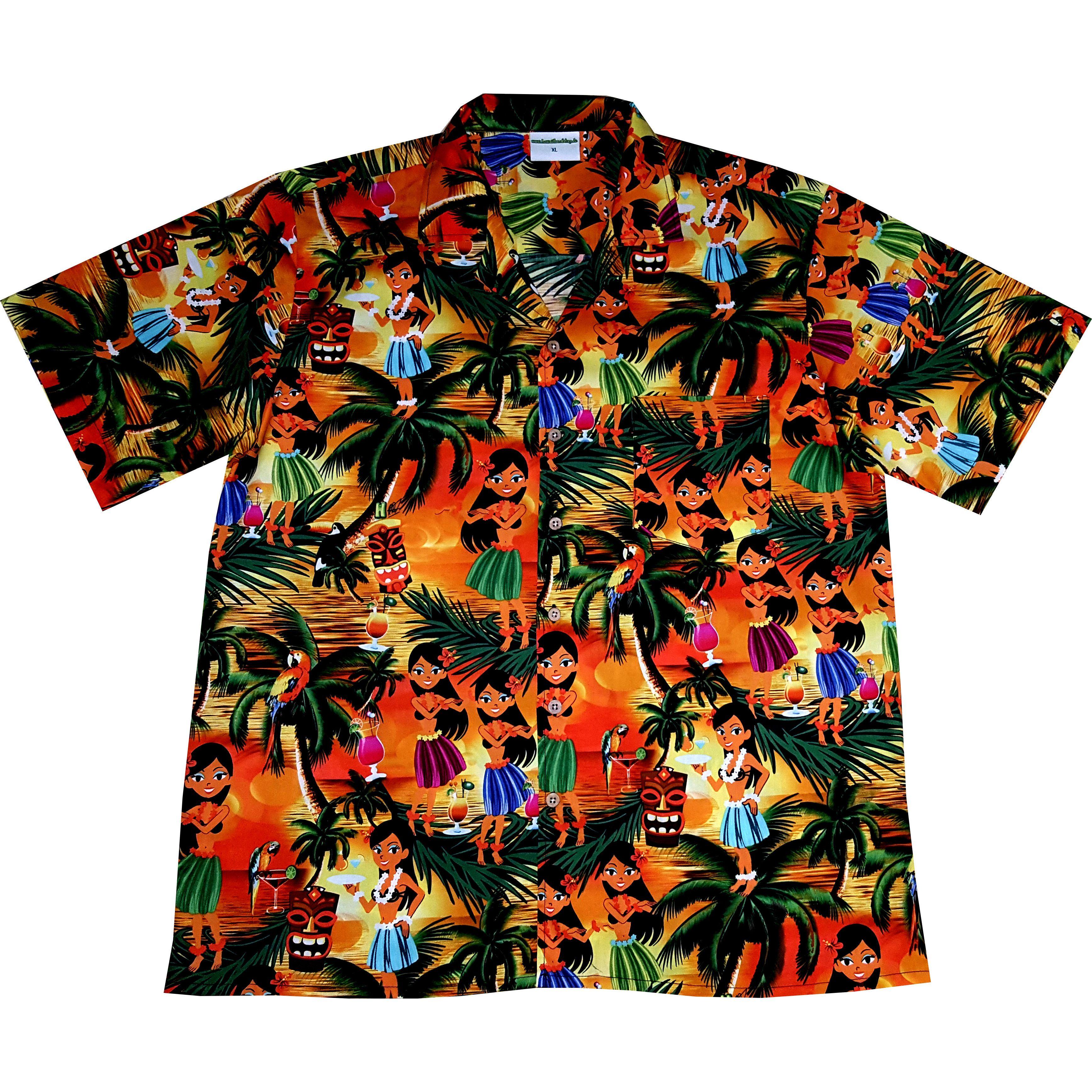 8XL Hawaiihemd 100/% Baumwolle Hawaii Hemd Hawaihemd Hawaiishirt Hawaishirt S
