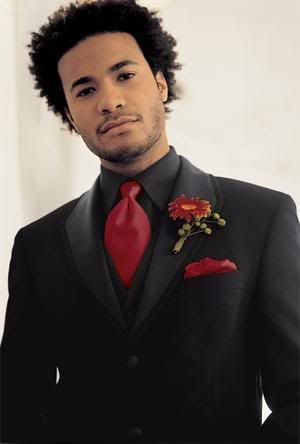 Tux possibility. Black vest, red tie & pocket square.... My hubby ...