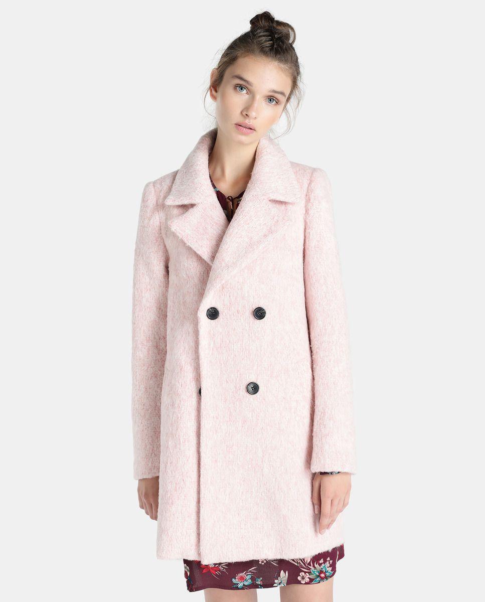 Abrigo de mujer Fórmula Joven cruzado en color rosa  6450628d7c75