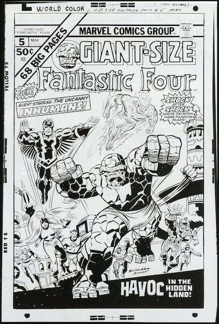 Giant Size Fantastic Four, - became cover to FF #159