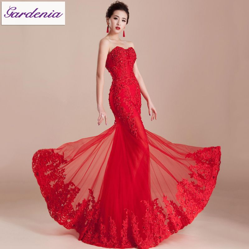 Elegant Evening Gown Bandage Back Sweetheart Neck Party Dress ...