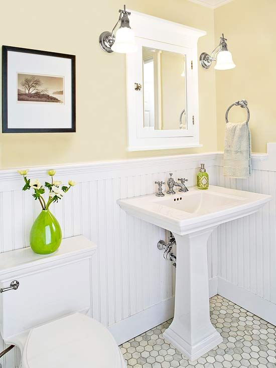 Spruce Up Your Guest Bath Small Bathroom Makeover Beadboard Bathroom Small Bathroom Vanities
