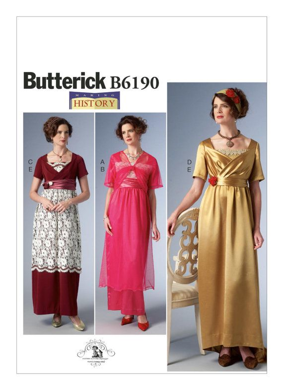Butterick Pattern B6190 Vintage-style Edwardian \