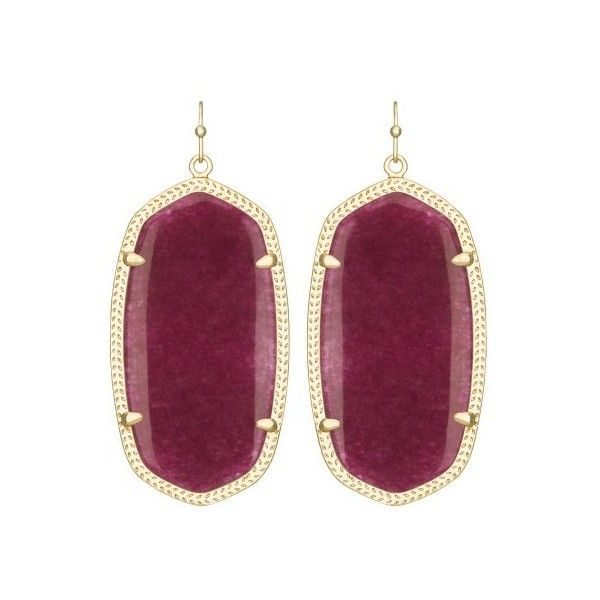 Kendra Scott Danielle Earrings in Maroon Jade ($65) ❤ liked on Polyvore featuring jewelry, earrings, 14 karat gold jewelry, kendra scott, jade earrings, 14k earrings and jade jewelry