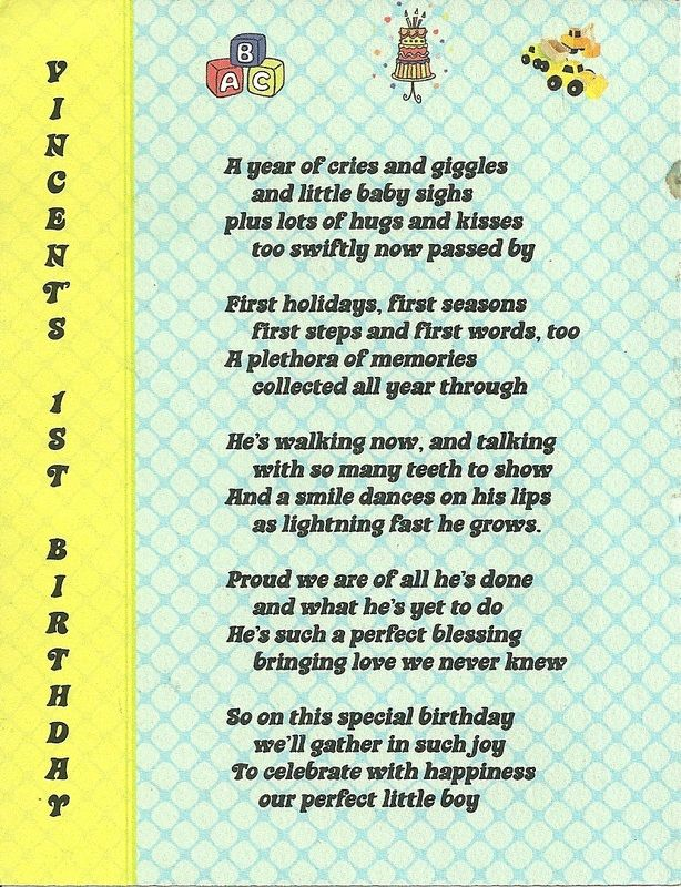 Poem For First Birthday Party Invitation