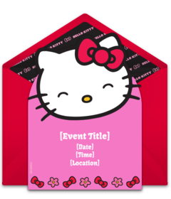 Online invitations from hello kitty invitations hello kitty and free hello kitty invitations easily personalize and send hello kitty invites at http stopboris Choice Image