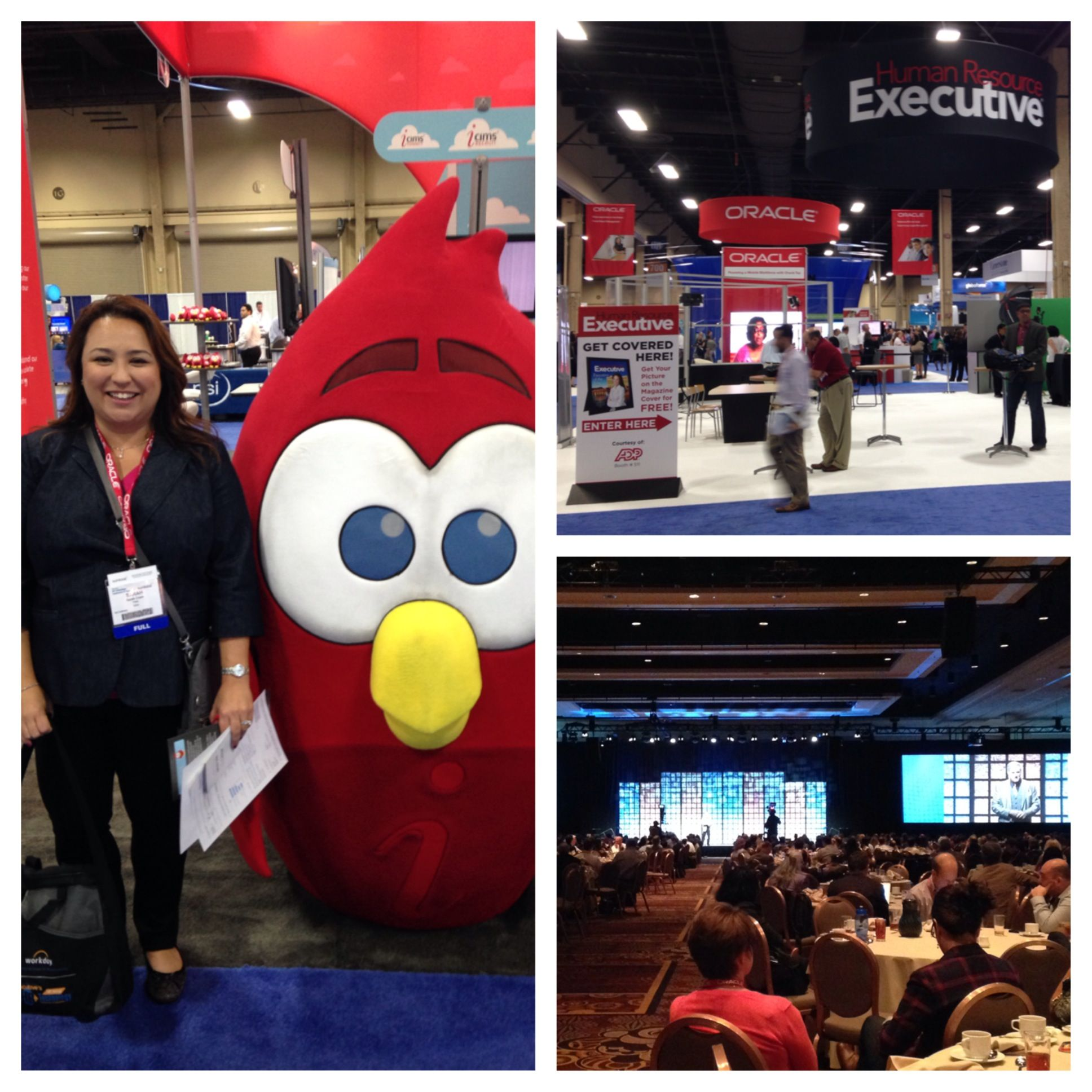 HRTech Conference 2013! Sarah Crain with an angry bird!