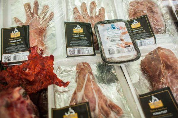 Human Cadaver Cafeterias | hell | Butcher shop, Meat shop, Meat markets