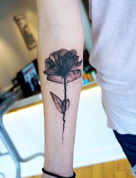X Ray Of Rose Watercolor Amazing Tattoo For Me Yeti: X-ray Rose Tattoo By Rodolphe