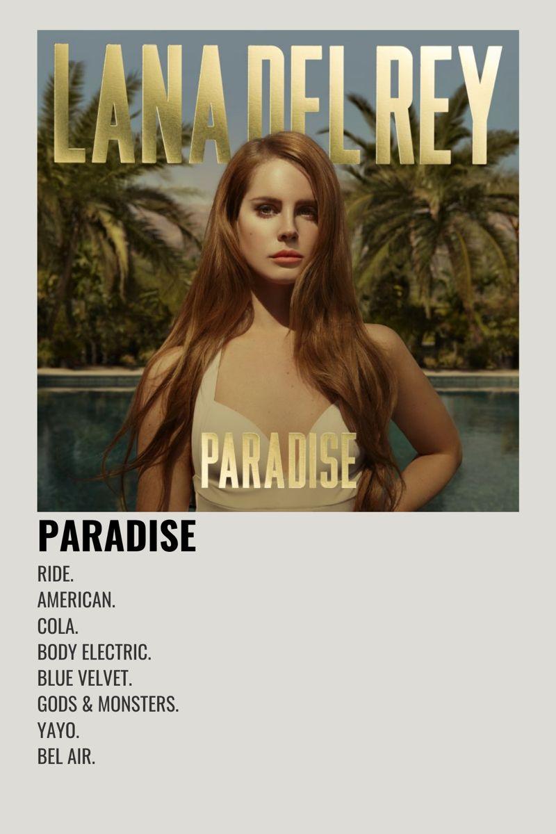 Lana Del Rey Paradise In 2020 Film Posters Minimalist Minimalist Music Movie Posters Minimalist