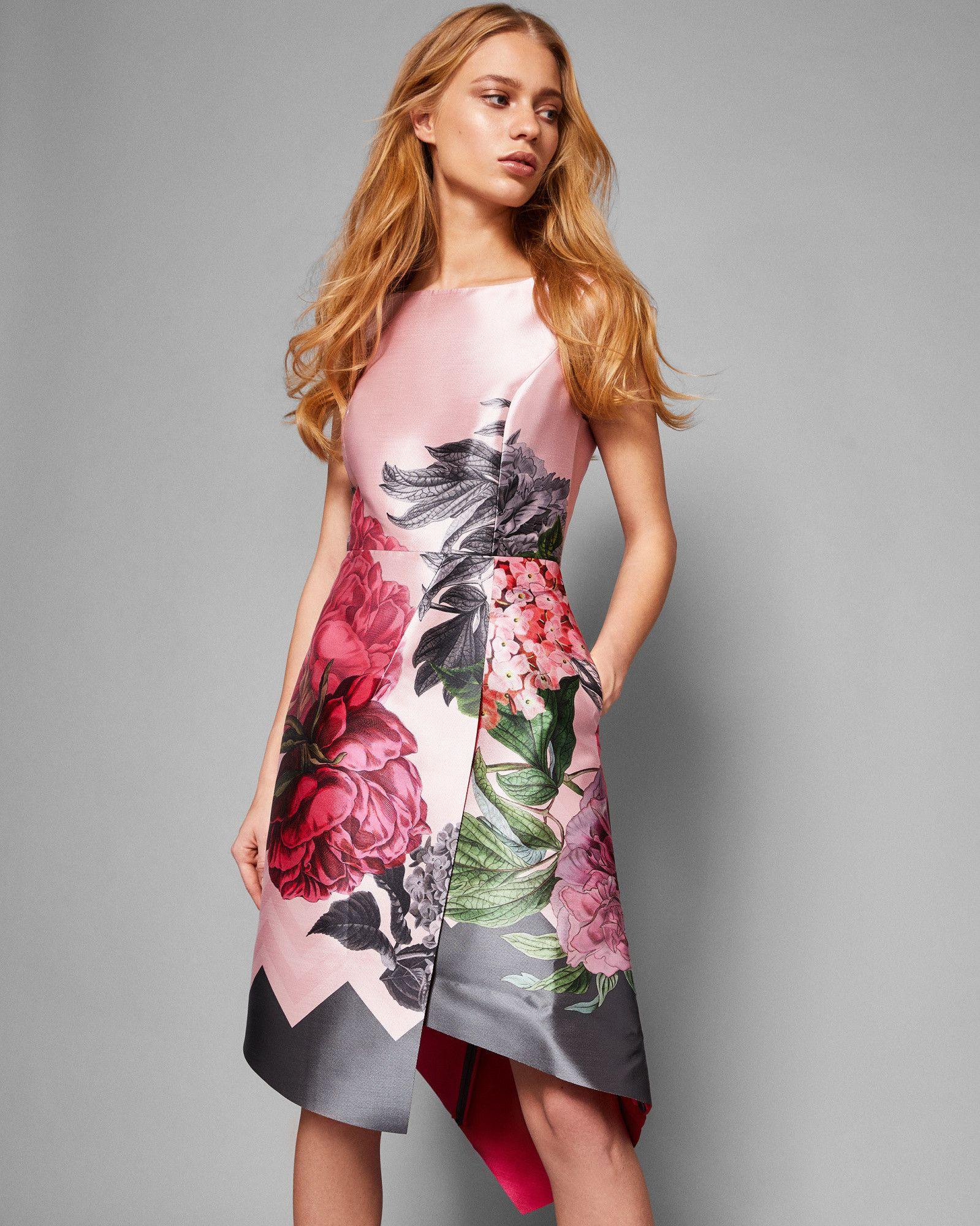 Ted Baker Palace Gardens asymmetric dress Grey  Interview dress