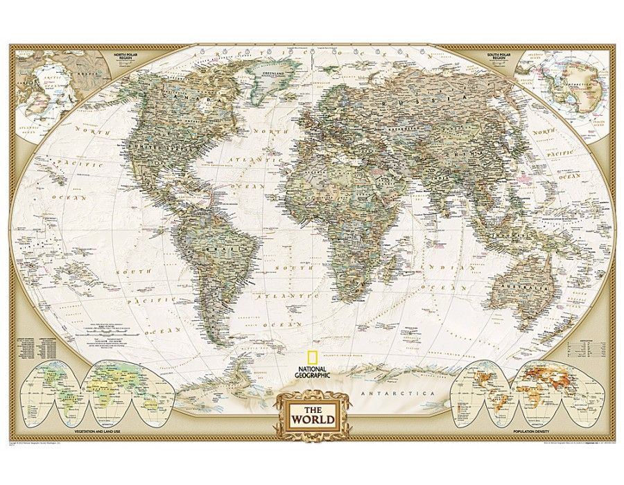 Buy World Executive Wall Map Poster Size And Laminated Wall Maps - Buy map posters