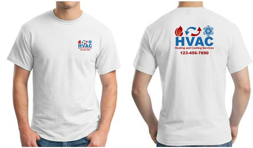 Hvac Work Uniform With A Full Color Logo Work Shirts Custom