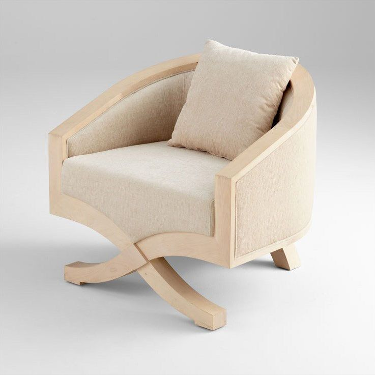 White Wash Stain On Maple: Cyan Design 05747 Ms. Jolie Chair In White Wash Maple