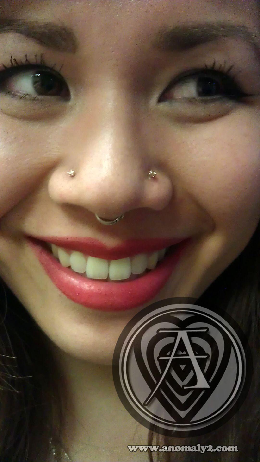 Closed nose piercing  ANOMALY Piercings in Pasadena  Piercings  Pinterest  Piercings