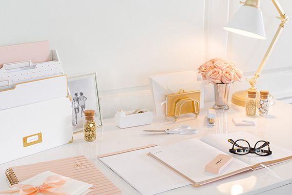 The Exact Marble And Rose Gold Office Decor I Want To Model My Office From Office Supplies Design Target Office Office Inspiration