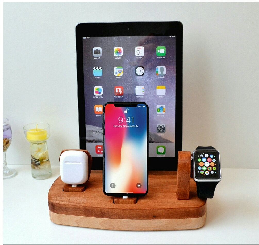 Airpods iPhone Watch iPad Charging Station Gift for him Apple iPad ...