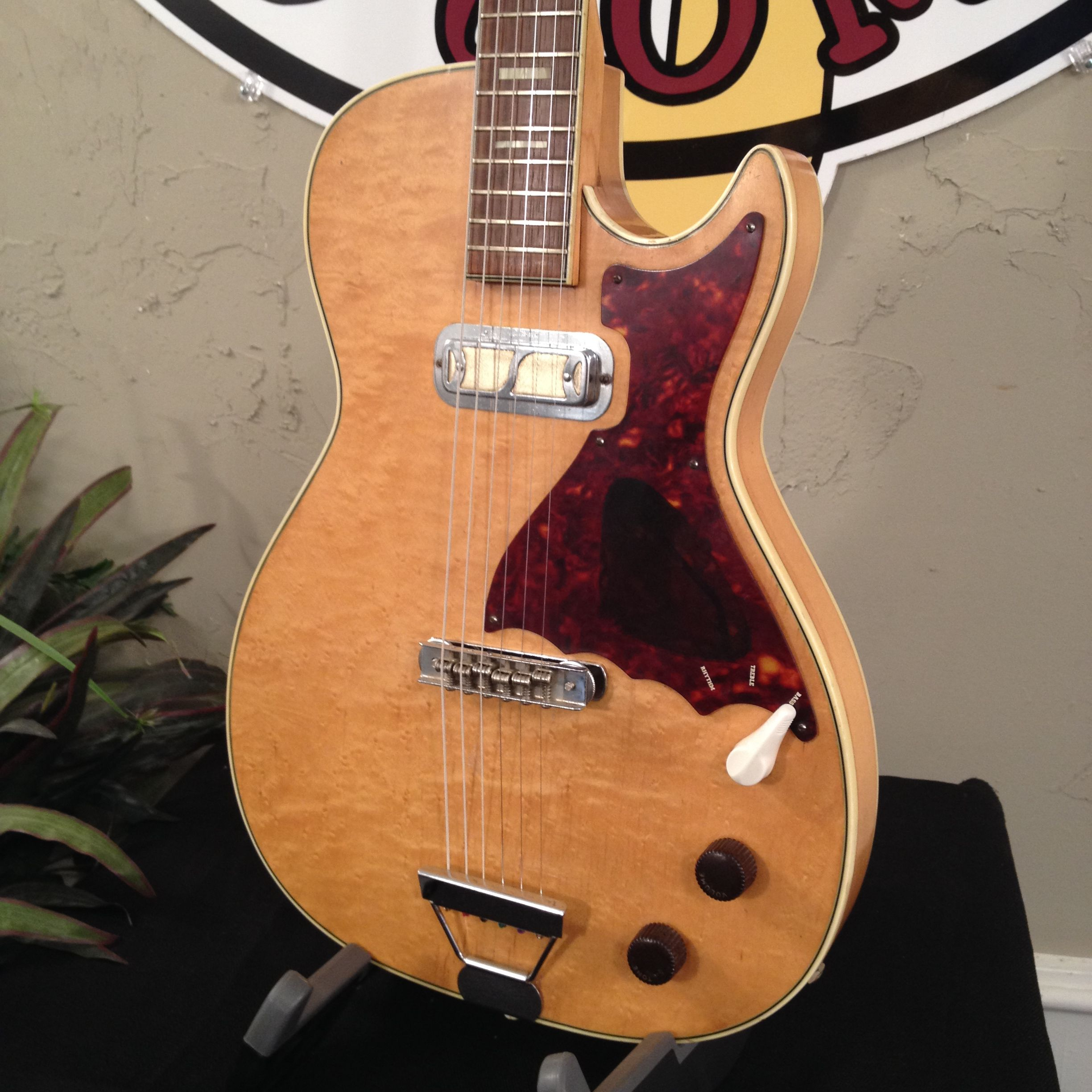 1950s 60s Harmony Stratotone H48 Mercury With A Slight Standard Wiring For 2 Pickups Guitars Improvement To The Bridge