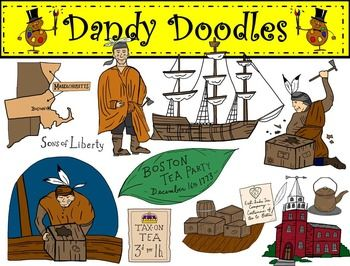 Boston Tea Party Clip Art By Dandy Doodles Clip Art Boston Tea