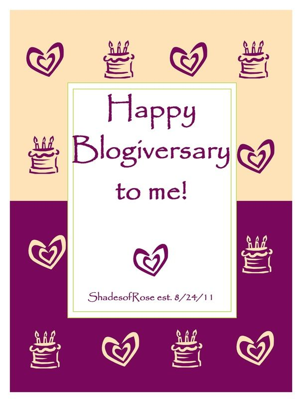 One year of blogging!