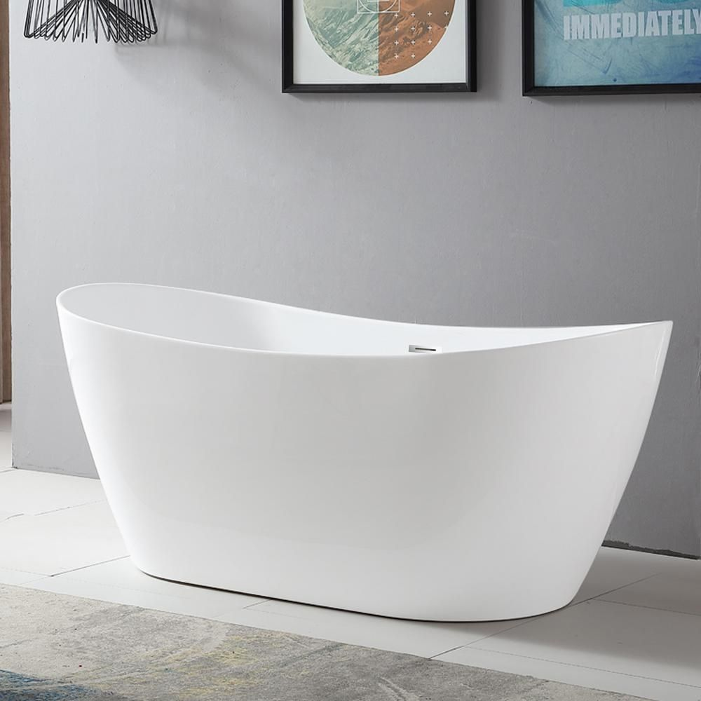 Vanity Art Mulhouse 71 In Acrylic Flatbottom Freestanding Bathtub