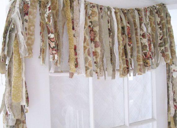 Kitchen Window Valance Rustic Shabby Chic By Elizabethanddaniel