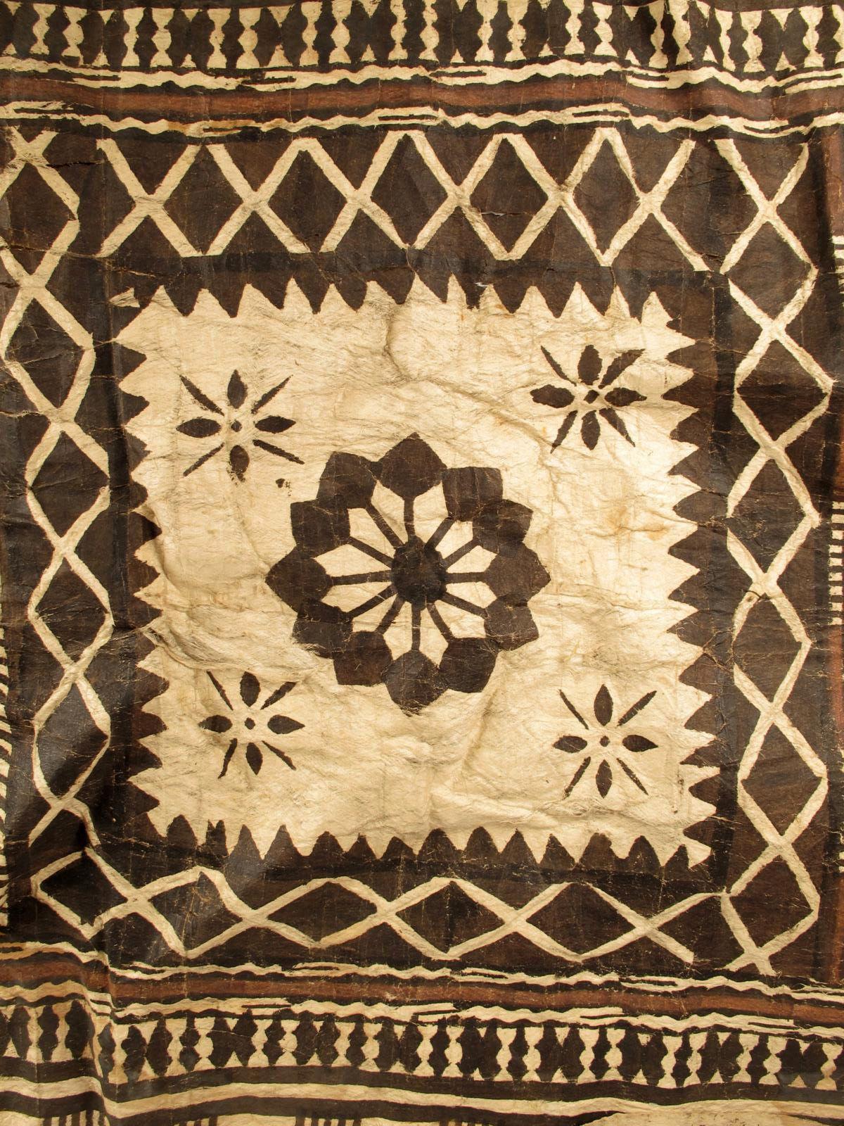 A Fiji tapa cloth, with six geometric panels | Tapa Prints ...