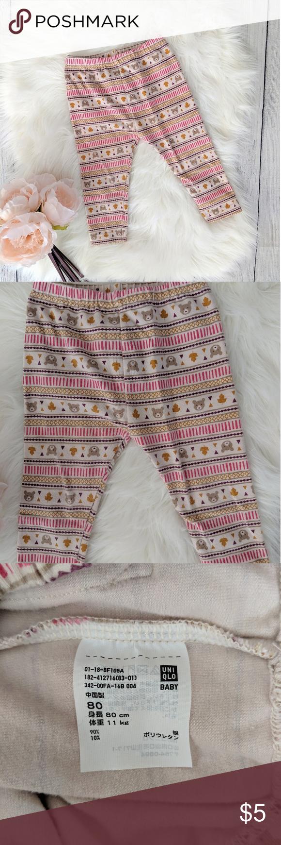 3 For 15 Uniqlo Teddy Bear Leggings Clothes Design Colorful Leggings Uniqlo
