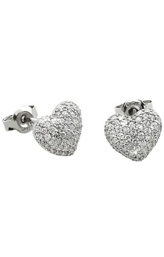 2Jewels Brilliance 263069 #2Jewels #Brilliance 925 silver heart earrings with white #zircons.