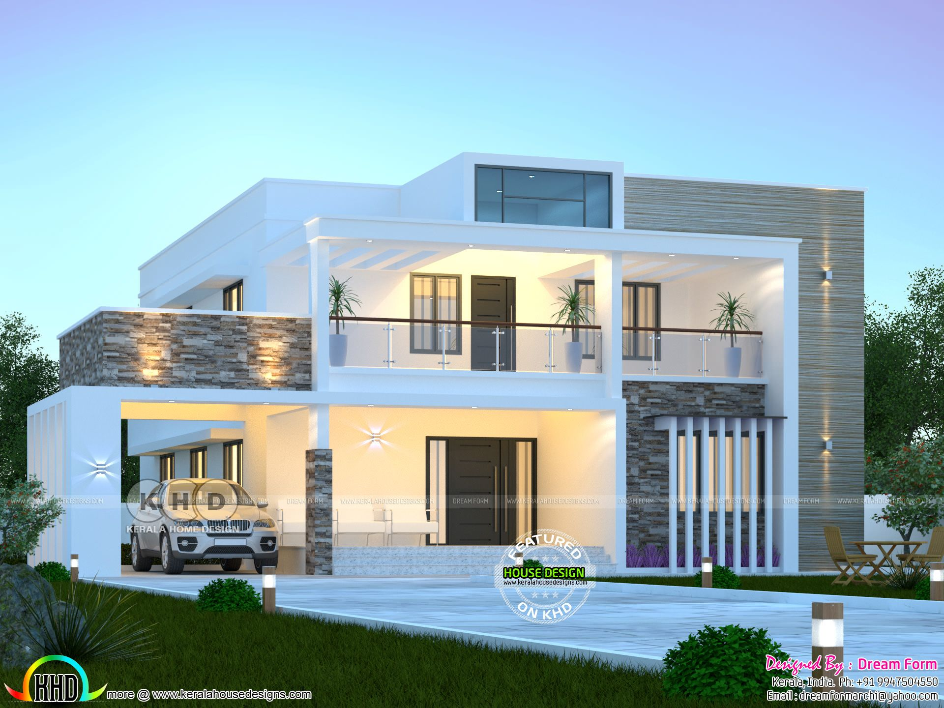 3050 square feet 4 bedroom modern flat roof house in 2020