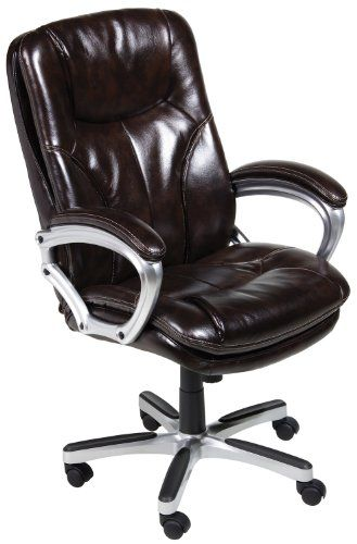 Serta 43502 Faux Leather Big Tall Executive Chair Brown Price