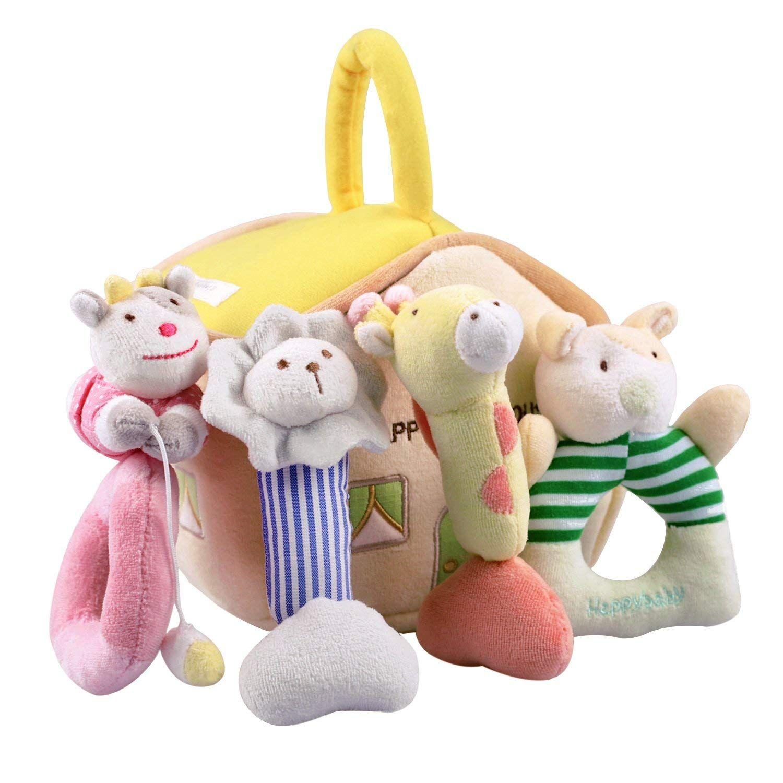 Amazon.com: iPlay, iLearn 4 Plush Baby Soft Rattles Set ...
