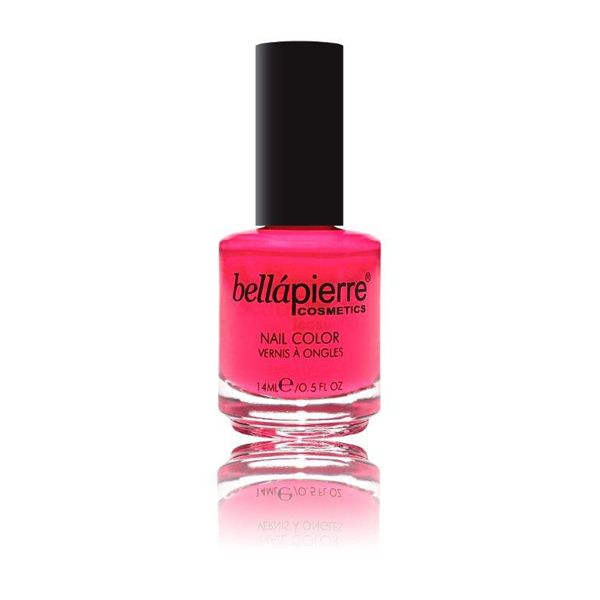 Neon Pink Bellapierre nail polish. Cruelty-free, no animal testing ...