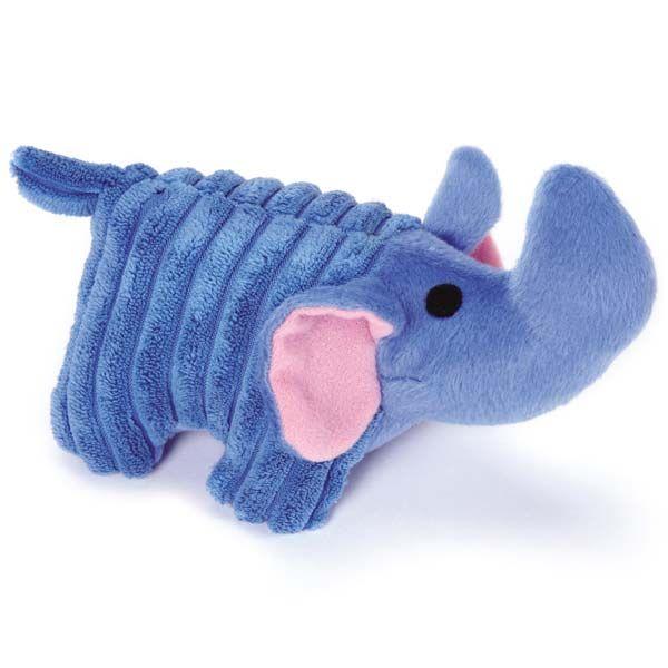 Zanies Corduroy Chum Dog Toy Blue Elephant Dog Toys Blue