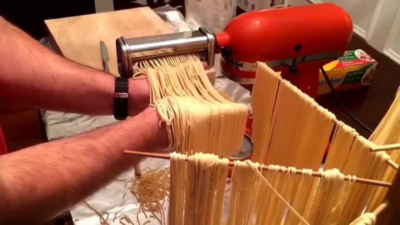How to make fresh pasta dough with a kitchenaid mixer
