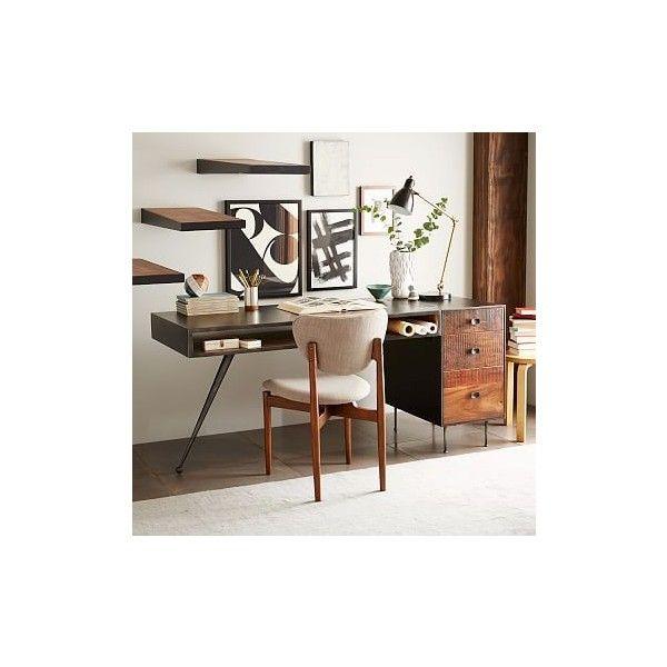 walnut home office furniture. West Elm Lloyd Metal Desk, Concrete/Walnut - Work Desks Office. Walnut Home Office Furniture H