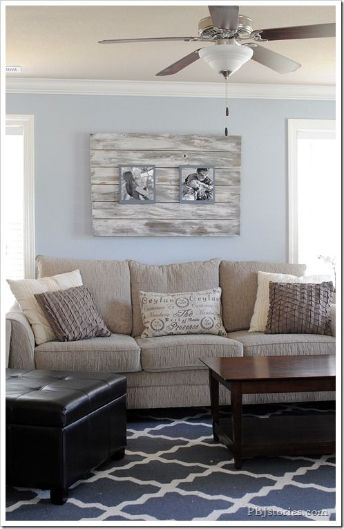 pbjstories living room - love this room! Frame, colors, rug, pillows