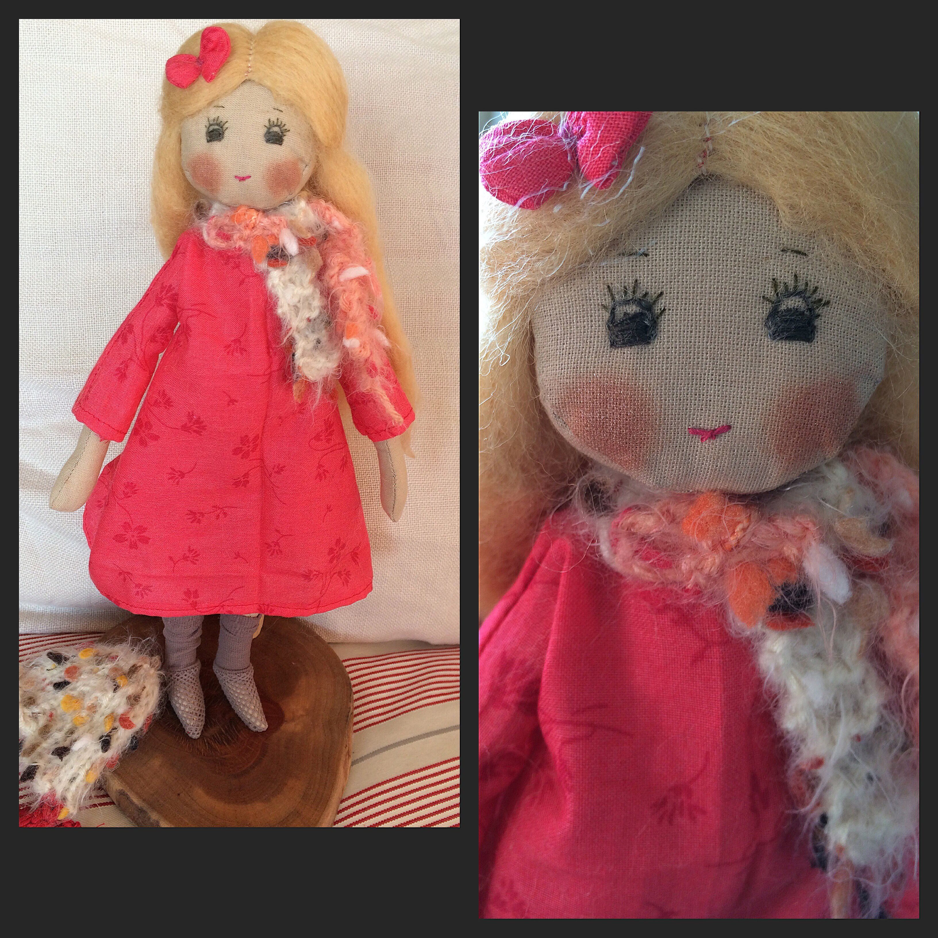 Natural fabricdoll. Wool, cotton, doll, fabricdoll, Design, handmade.