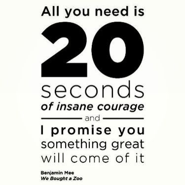 all you need is 20 seconds of insane courage.