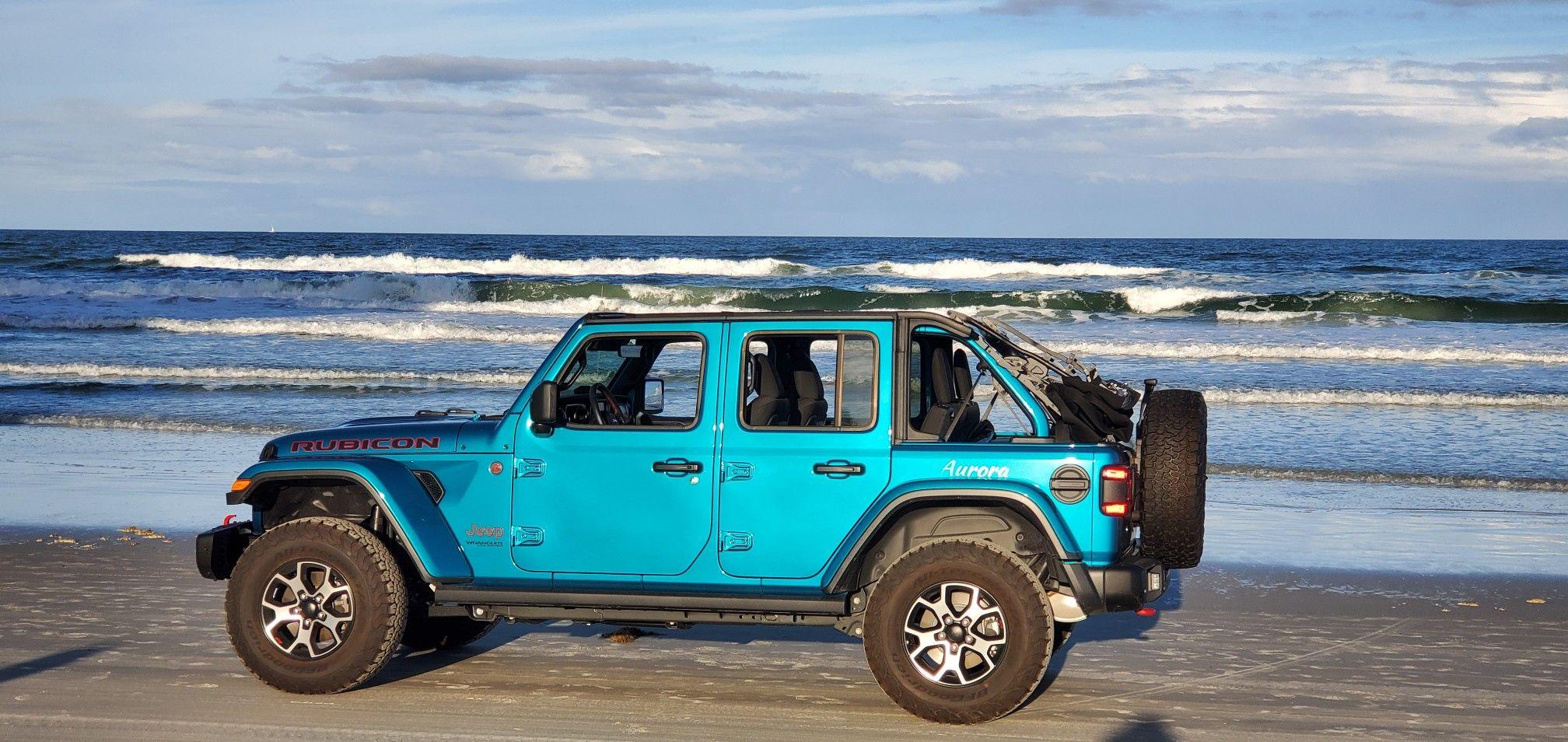 Our 2019 jeep wrangler JLU Rubicon on daytona beach. in