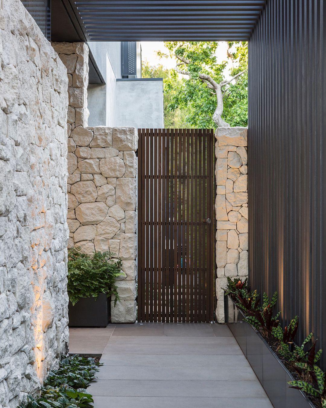 C O S Design On Instagram Limestone Walls Solid Oak Pivot Door